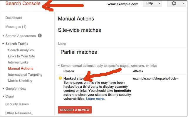 هک سایت وردپرسی در سرچ کنسول گوگل
